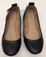 Womens Delaney Round Toe Ballet Flats Faux Leather Universal Thread Black Size 6
