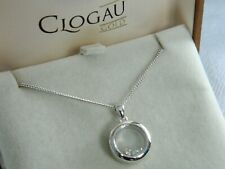 Clogau Sterling Silver & 9ct Rose Gold Inner Charm Circle Pendant RRP £149.00