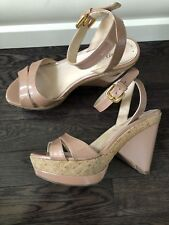 Authentic Prada Wedge Shoes Heels Size 36