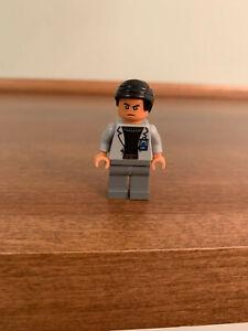 LEGO Dr. Wu Frown minifigure Jurassic World 75927 dinosaur mini figure dr