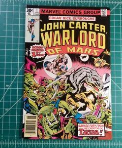 John Carter Warlord of Mars 1 (1977) Marvel 1st App FN/VF+ Newsstand Disney+