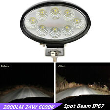 Oval LED 2000LM 24W Car SUV Offroad Flood Light Driving Working Lamp Waterproof