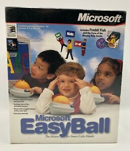 VINTAGE Microsoft Easy Ball Kids Trackball Serial Connector w/Freddi Fish SEALED