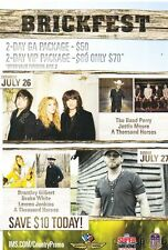 2014 Indianapolis Brickfest small handbill The Band Perry Brantley Gilbert
