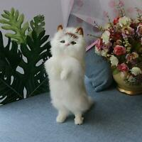 Realistic Lifelike Cat Animals Model Plush Toy Stuffed Fluffy Doll Kid Xmas UK
