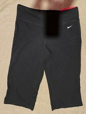 """NEW NWT Nike Dri-FIT """"Be Strong"""" Women's Cotton Poly Capris Black Size M"""