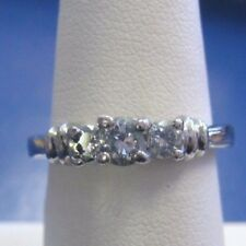 Beautiful Platinum Engagement Ring with over 1/2 Ctw Diamonds sz 6 by Zei Lqqk