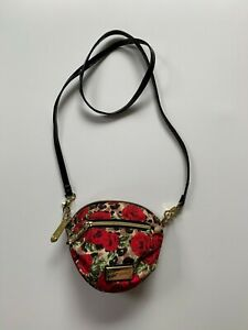 Betsey Johnson classic leopard rose Crossbody purse handbag belt bag waist bag