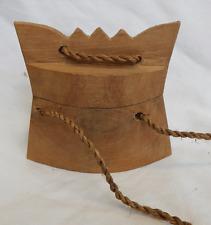 Antico/Vintage intagliati a mano in legno GIAPPONESE Inro-semplice stile - 19th Secolo