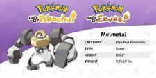 Melmetal Shiny Pokemon Let's Go Pikachu / Evoli 6iv.    Envoi Immédiat
