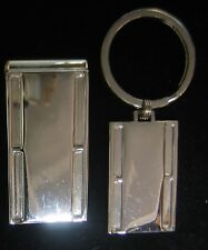Silver Plated Key Ring Key Chain And Mens Money Clip