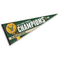 Milwaukee Bucks 2021 Nba Championship Full Size Pennant Flag Banner
