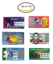 Amazing Fake Lottery Tickets 6 Designs That Look Real Great Gag Gift Set Of 100