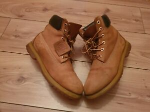 Timberland Tan Leather Boots Size 8W uk 6.5