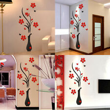 Vase Floral Tree 3D Decal Room Wall Sticker Vinyl Art Hot DIY Decor Home Family