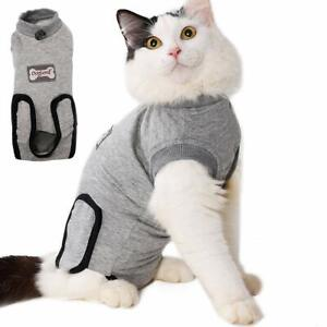 PET Cat Surgery Recovery Suit Adjustable Cotton Cosy Suit for Wounds Diseases