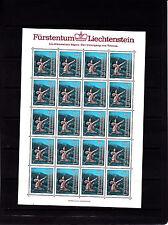 Liechtenstein légendes 80 r   feuille 20 TP n° 786