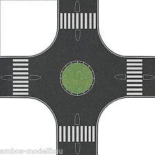 (1m²=292,58€) BUSCH 1102 N, Kreisverkehr, Asphalt, f. 40 mm Straßen,160 x 160mm