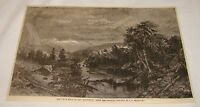 1883 magazine engraving ~ WHITE HILLS OF NEW HAMPSHIRE