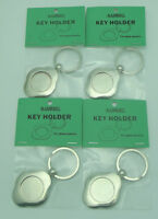 """FOUR KEY RING FINDINGS 1"""" Display Fused Glass Cabachons Aanraku VALUE PACK"""