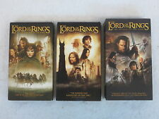 LORD OF THE RINGS TRILOGY 4 VHS Full Screen New Line 2002
