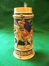 Full color pottery beer stein