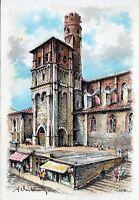 81 Albi - L'Eglise Saint Salvi XIIe - illustrateur A. Desbarres