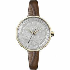 New Vivienne Westwood Edgeware Ladies Brown Leather Strap VV171GDBR Womens Watch