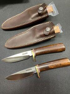 "2 Each RANDALL KNIFE KNIVES #26-4"" IRONWOOD TWIN PAIR BRASS  RARE"