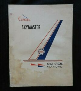 GENUINE 1963-1964 CESSNA MODEL 336 SKYMASTER SERIES AIRPLANE SERVICE MANUAL GOOD