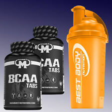 80,55€/kg) Mammut BCAA Tabs  2 x 180 Tabletten Aminosäuren + Shaker in Orange