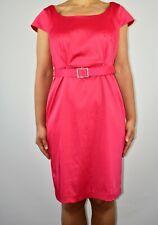 Pepperberry Satin Pink Aline Dress Pink Winter Autumn Christmas Size 14 AB