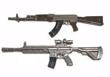 PUBG-(13+14): 1/12 diecast metal AKM & M416 Toy Guns for 6