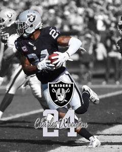 Oakland Raiders CHARLES WOODSON Unsigned Photo 16x20 #1