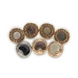 5pcs Retro Shiny Round Metal button Clothing Sewing Craft Accessories Decor 18mm
