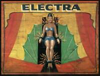 Electra Vintage Freak Show Advertising Poster Rolled Canvas Print 30x24 Inches