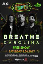 BREATHE CAROLINA 2017 TAMPA, FL CONCERT TOUR POSTER - EDM, Electropop Music