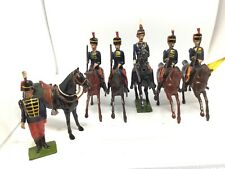 Britains 11th Hussars, 4 Troopers An Officer And Dismounted Hussar (ref W 346)