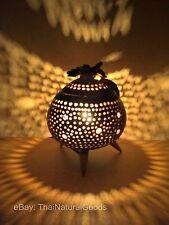Asiatische Tischleuchte Holz Tischlampe Lampe Licht Wohnen Dekoration Nachtlicht
