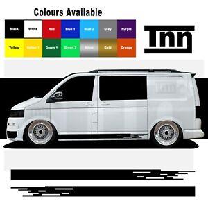 Side Stripe Stickers For VW Transporter T5 T4 T6 Sticker Vinyl Decal Campervan