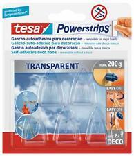 tesa Powerstrips Deco-Haken. transparent. für max. 200g