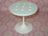 Mattel Barbie Doll DREAMHOUSE Replacement 2019 WHITE KITCHEN TABLE