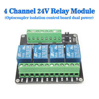 (USA)DC24V 4 Channel Relay Module Four Way Optical Coupling Isolated Sensor