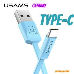 USAMS ORIGINAL Flat Cable USB Type-C cord Data Sync Samsung S9 S10 plus TYPE C