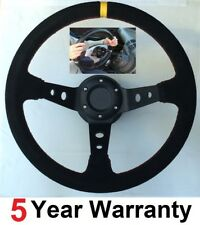 SNAP OFF QUICK RELEASE SUEDE SUEDE STEERING WHEEL AND  BOSS FIT ALL NISSAN