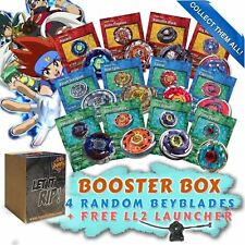 Beyblade Random Starter 4 Pack w/ Free BB-87 LL2 Launcher & Free Bey Card Gift