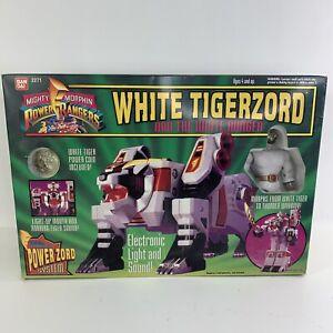 Bandai Power Rangers: White Tigerzord Action Figure Vintage 1994 Item #2271