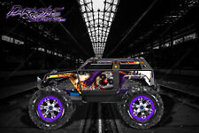 "TRAXXAS SUMMIT GRAPHICS WRAP DECALS ""PYRO"" FOR OEM BODY PARTS"
