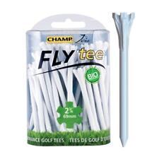 Champ Zarma FLYTee T-shirt de Golf - 7cm Blanc (40 Pack) Nouveau