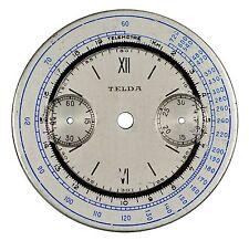 """BIG presto vintage Eberhard CAL. 1600 16"""" Orologio Da Polso Cronografo Quadrante, Swiss 1930"""